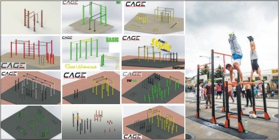 cage street workout parky